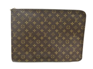 Louis Vuitton Auth LOUIS VUITTON Poche documents Briefcase Monogram M53456 (BF090286)