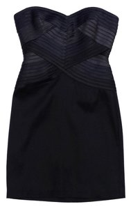 BCBGMAXAZRIA short dress Navy Black Strapless on Tradesy