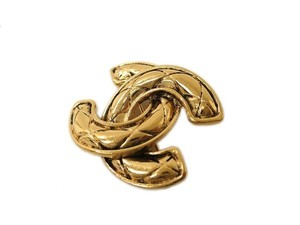 Chanel Auth CHANEL COCO Mark Broach Metal Gold (BF093933)