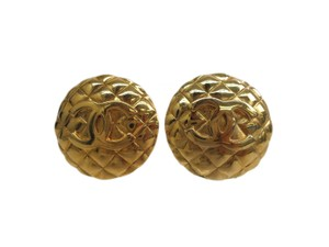 Chanel Auth CHANEL Coco Mark Clip Earrings Metal Gold (BF093461)