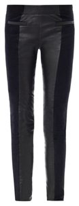 Isabel Marant Suede Leather Pant Navy Black Skinny Pants