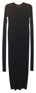 Black Maxi Dress by Rick Owens Knit Longsleeve Stretchy Maxi