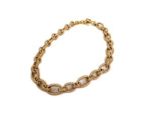 Chanel Auth CHANEL Necklace Metal/Rhinestone Gold (BF090419)