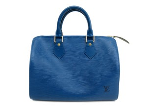 Louis Vuitton Satchel in Blue Toledo