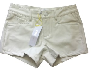 BCBGeneration White Leather Mini/Short Shorts