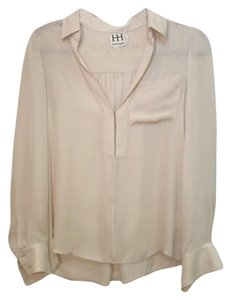 Haute Hippie Silk Top Beige