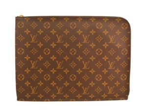 Louis Vuitton Auth LOUIS VUITTON Poche documents Briefcase Monogram 053 (BF090472)