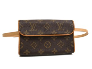 Louis Vuitton Auth LOUIS VUITTON Pochette Florentine Bum Bag Monogram M51855 (BF091830)