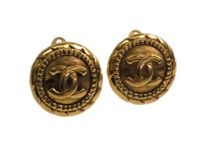 Chanel Auth CHANEL COCO Mark Clip Earrings Metal Gold (BF090009)