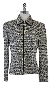 St. John Black White Tweed Jacket