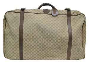 Gucci Auth Gucci Suitcase GG Canvas Brown GG (UJ104880)