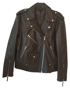 Theory Khaki green Leather Jacket