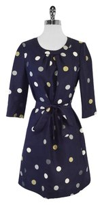 Kate Spade short dress Navy Polka Dot Shift on Tradesy