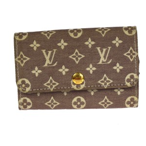 Louis Vuitton Auth LOUIS VUITTON Six Hooks Key Case Monogram Mini Lin Canvas Leather 09W378