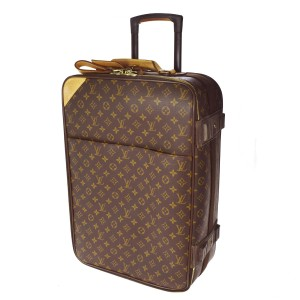 Louis Vuitton Auth LOUIS VUITTON Pegase 55 Rolling Suitcase Monogram Leather M23294 90F692