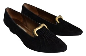 Rangoni Black, Gold Flats