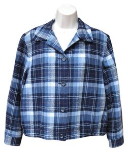 Pendleton #wool Blue Plaid Jacket