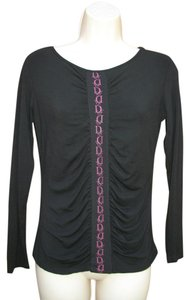 Dior #dior #christiandior #knit #ruched #longsleeve Top Black Pink