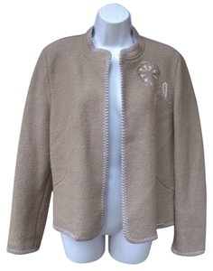 Geiger Collection #wool #austria #embroidered #jacket #floral Tan Jacket
