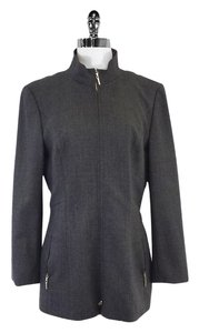Escada Grey Wool Blend Zip Jacket
