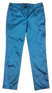 Dolce&Gabbana Satin Straight Pants teal