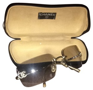 3ad1926df1030 Chanel Authentic Designer Chanel Sun Glasses. Chanel Cream Clear Designer  Sunglasses