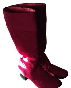 Monroe & Main Red/black Boots