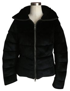 Burberry Rabbit Fur Rabbit Black Jacket