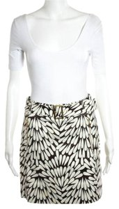 Tory Burch Skirt Brown & white (with gold accents)