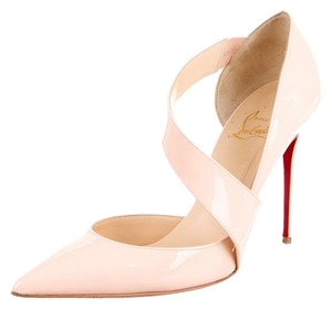 Christian Louboutin Nude Beige Patent Beige, Nude, Pink Pumps