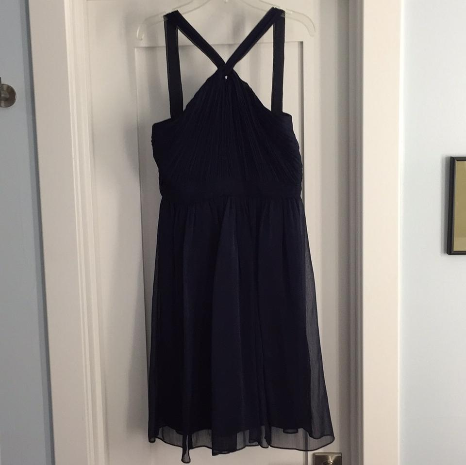 J Crew Navy Traditional Bridesmaid Mob Dress Size 2 Xs