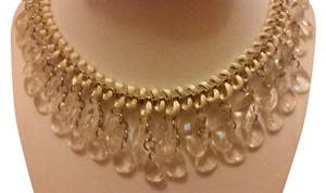 Other Silver and clear drops statement necklace