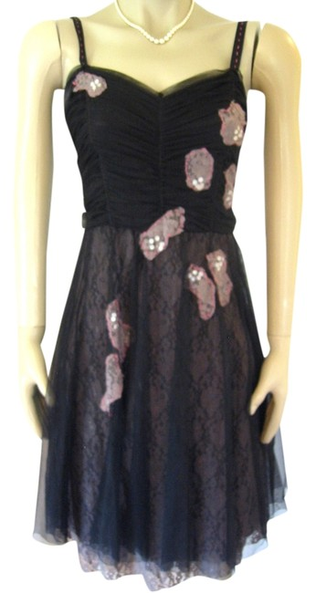 Preload https://item3.tradesy.com/images/anthropologie-black-lux-party-s-lace-chiffon-sequin-netting-mid-length-cocktail-dress-size-6-s-1128762-0-0.jpg?width=400&height=650