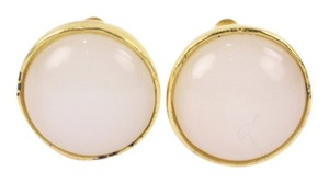 Chanel Chanel Gold Tone Faux Pearl Clip On Earrings CCAV386