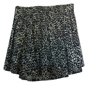 H&M Summer Mini Skater Mini Skirt Navy blue