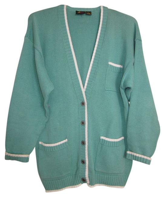 Preload https://img-static.tradesy.com/item/112879/liz-claiborne-green-with-white-piping-cardigan-size-12-l-0-0-650-650.jpg