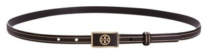 Tory Burch TORY BURCH Rectangular Logo Plaque Belt. Size L.
