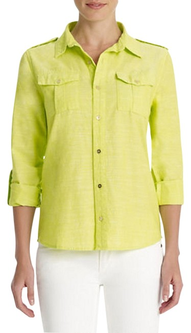 Preload https://item4.tradesy.com/images/jones-new-york-yellow-signature-womens-roll-sleeve-linen-tunic-button-down-top-size-20-plus-1x-1128853-0-0.jpg?width=400&height=650