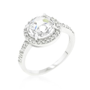 A. A. A. Cubic Halo Style Engagement Ring