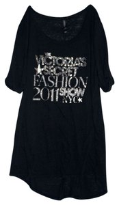 Victoria's Secret T Shirt Black and Silver