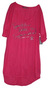 Victoria's Secret T Shirt Pink and Silver
