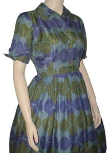 Meg Marlowe short dress blue, green, purple Vintage on Tradesy