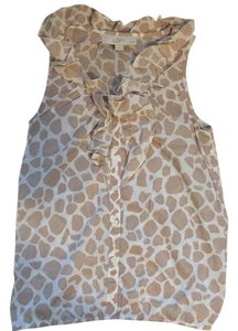 Ann Taylor LOFT Top Light brown and cream