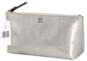 Kate Spade * Kate Spade Sparkle Little Shilo Marvis Street Silver Cosmetic Bag