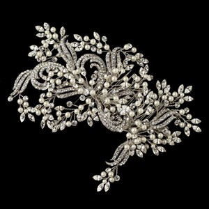 Elegance By Carbonneau Couture Pearl And Rhinestone Wedding Hair Comb