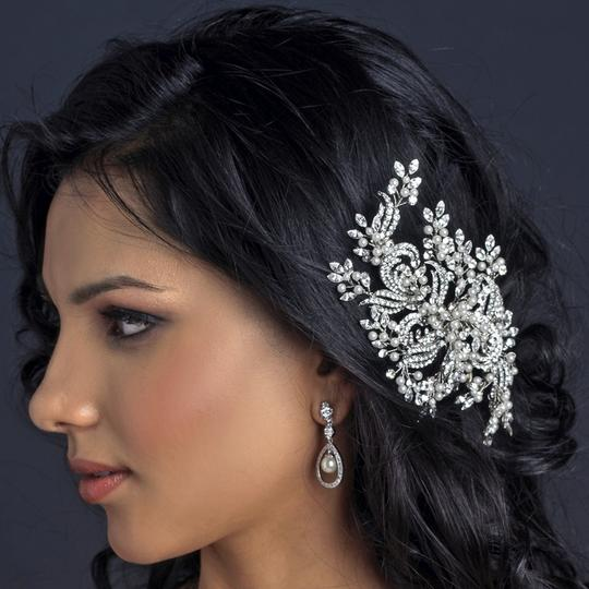 Elegance By Carbonneau Couture Ivory Pearl And Rhinestone Wedding Hair Comb