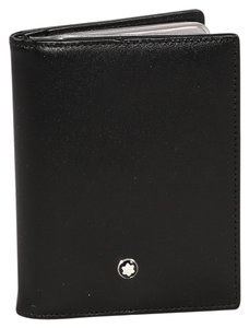 Montblanc * Mont Blanc Black Leather Credit Card Wallet