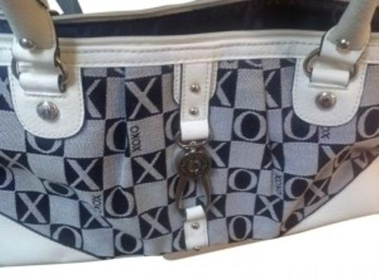 Preload https://item1.tradesy.com/images/xoxo-purse-blue-and-white-satin-leather-shoulder-bag-11290-0-0.jpg?width=440&height=440