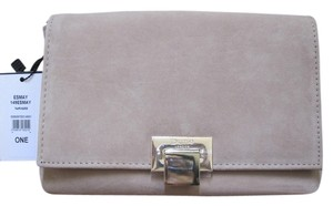 Dune London Esmay Suede Taupe Clutch