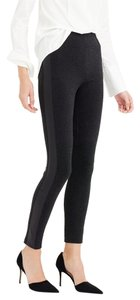 J.Crew Leather Skinny Pants Heather Charcoal
